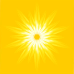 Vector Ray Sunrise light yellow background