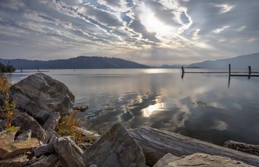 Chatcolet Lake landscape.