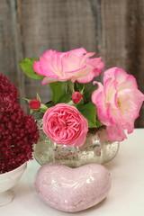 Sommerrosen & rosa Herz