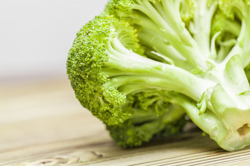 broccoli on wood table