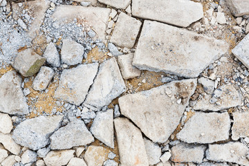 Cracked concrete floor