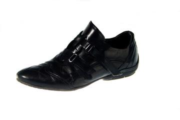 Scarpe da uomo eleganti, nere su sfondo bianco