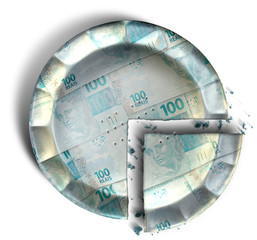 Slice Of Brazilian Real Money Pie