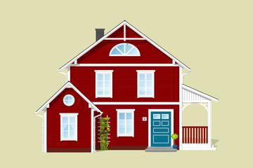 Rotes Haus aus Norwegen