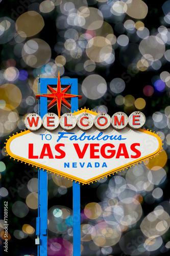Foto op Plexiglas Las Vegas Welcome to Las Vegas Signa