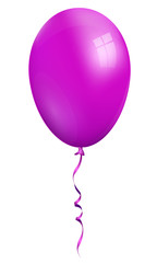balloon, single violet