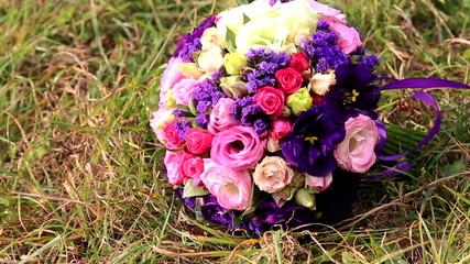 Festive bouquet of fresh flowers.