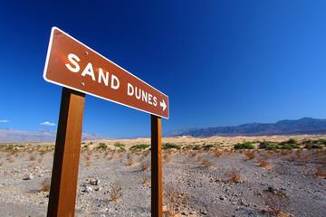 Sand Dunes Sign California