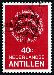 Postage stamp Netherlands Antilles, Curacao 1978 Conserve Energy