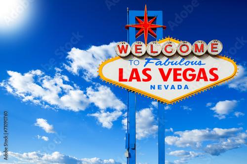 Plexiglas Las Vegas Welcome to Las Vegas Sign