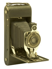 Vintage folding bellows film camera