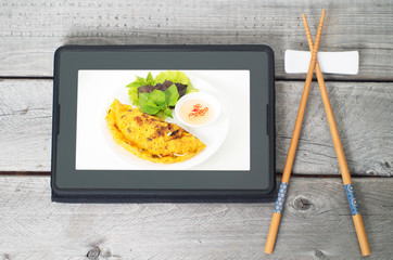 online asian food ordering concept