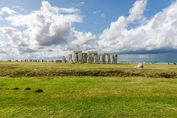Stonehenge - an ancient prehistoric stone monument near Salisbur