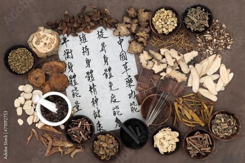 Keuken foto achterwand Assortiment Chinese Alternative Medicine