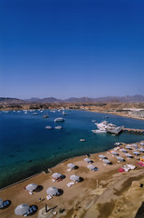 Egypt, Sharm El Sheikh, panoramic view of Naama Bay