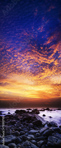 canvas print picture Spectacular sunset