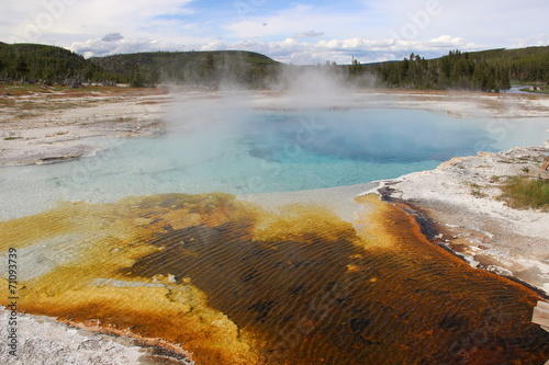 canvas print picture Bunter Yellowstone Nationalpark