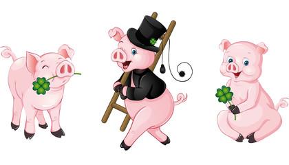 Glücksschweine Set 2014