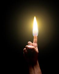 Burning finger