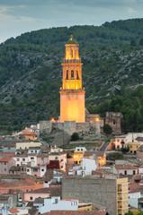 Torre mudejar de la Alcudia. Jérica. Castellón. España