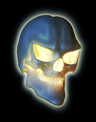 Glowing Demon Skull