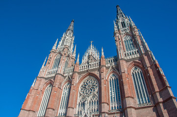 La Plata's Huge Cathedral near Buenos Aires, Argentina