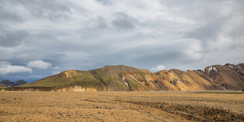 Landmannalaugar unbelievable landscape and clouds in Iceland