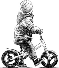 kid on the bike