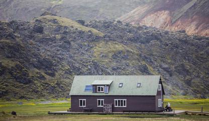 Refuge in the mountain, Landmannalaugar, Iceland