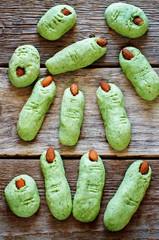 Halloween witch's fingers cookies