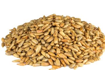 heap of roasted sunflower seeds