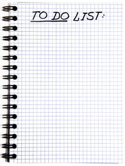 Notepad with a To Do List