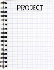 Notepad with a Project writing