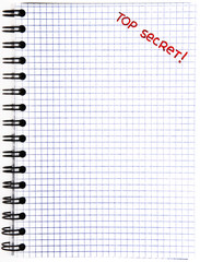 Notepad with a Top Secret mark