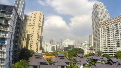 Bangkok city , Time lapse