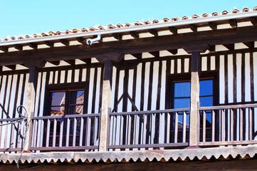 facade of medieval village, La Alberca