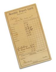 Antique Report Card