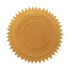 Blank Gold Seal