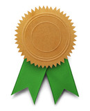 Gold Seal Green Ribbon