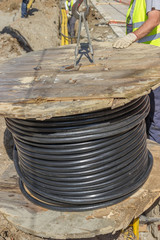 industrial cable installation