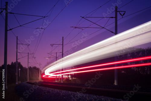 Deurstickers Oost Europa night railways