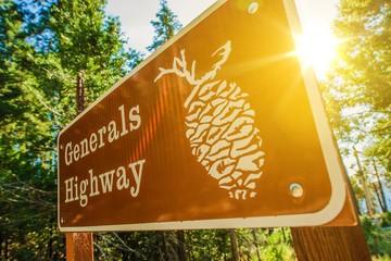 Generals Highway Sign