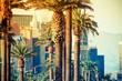 Leinwandbild Motiv Las Vegas Strip Palms