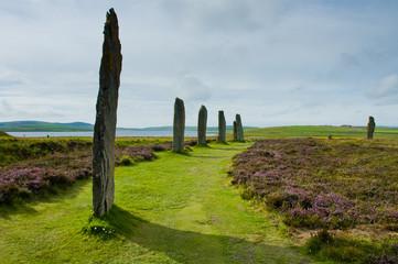 Orkney island menhir