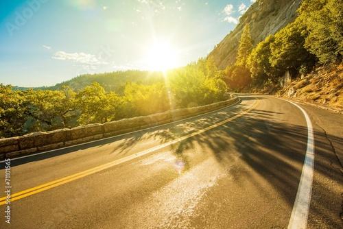 Leinwanddruck Bild Sunny Yosemite Road