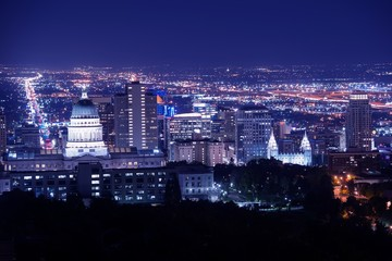 Salt Lake City at Night