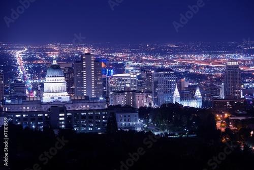 Salt Lake City at Night - 71101959