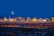 Leinwandbild Motiv Las Vegas Strip and Moon