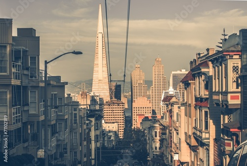 Leinwandbild Motiv San Francisco Cityscape