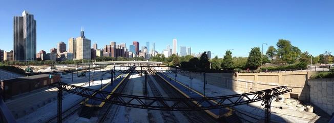 Chicago ferrovia America treni